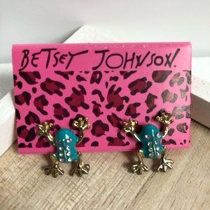Betsey Johnson tree frog stud earrings - NWOT